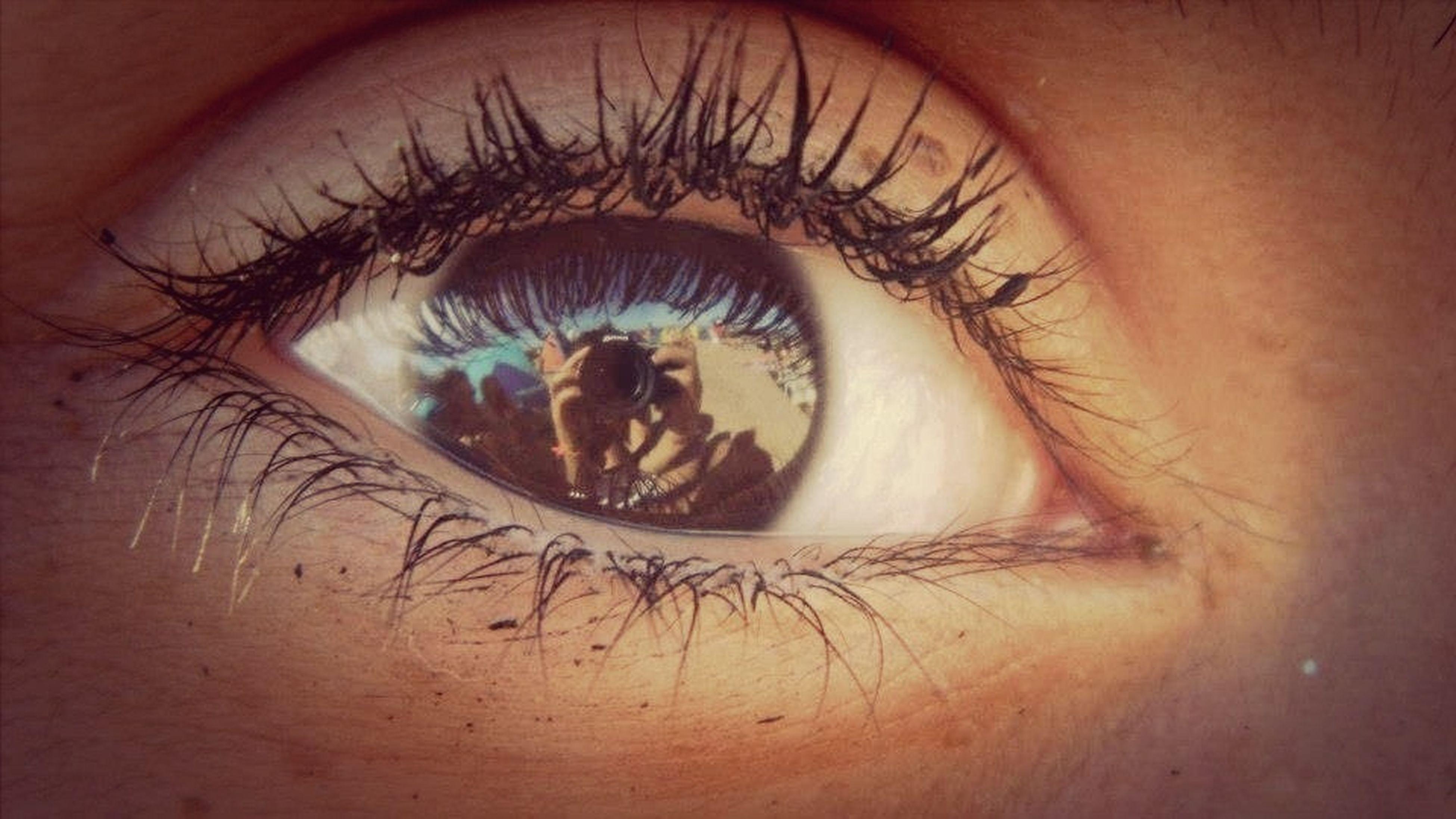 person, human eye, close-up, indoors, part of, eyelash, lifestyles, unrecognizable person, eyesight, human skin, cropped, sensory perception, leisure activity, circle, holding, human finger