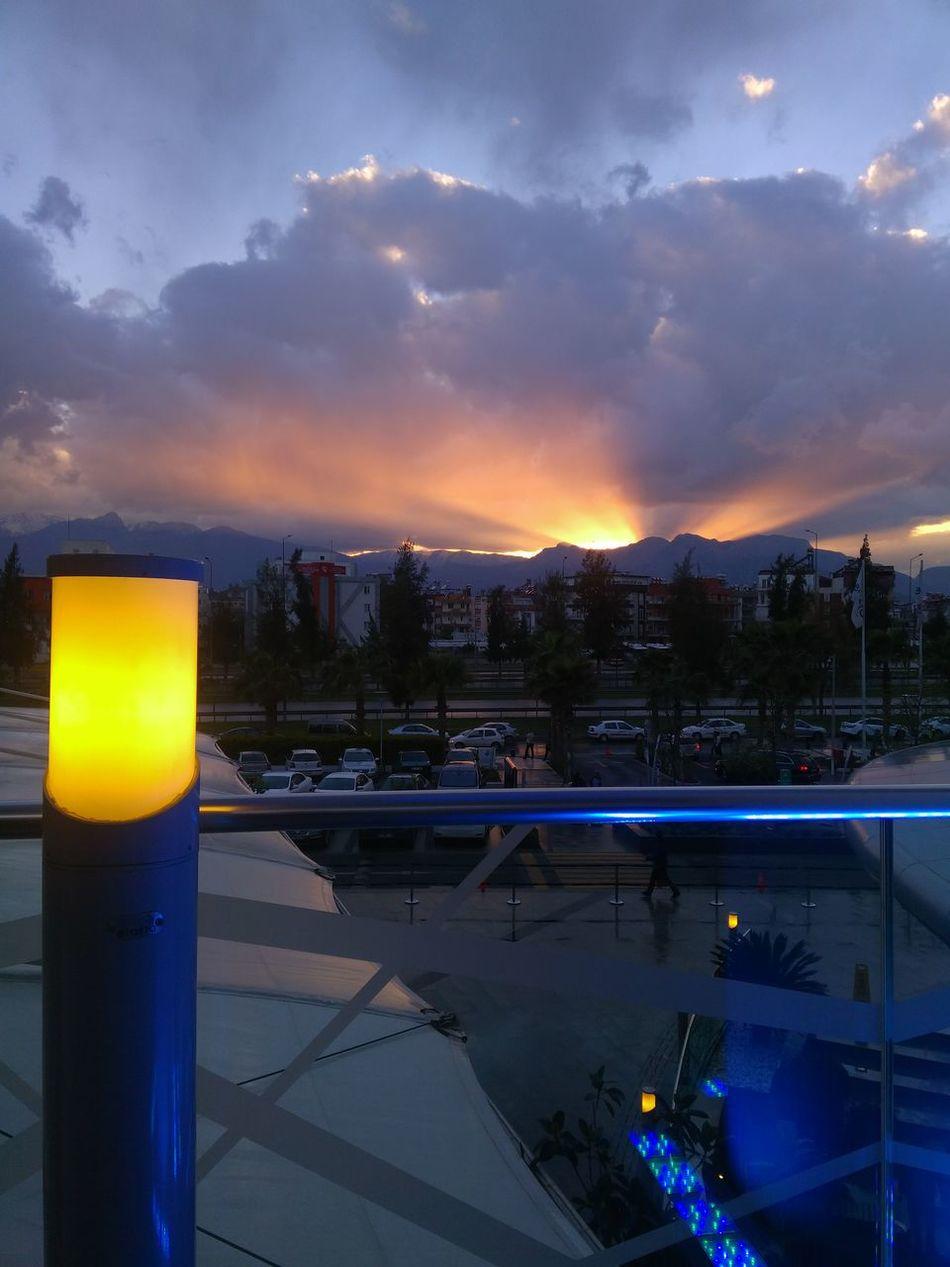 Sky Night Cloud - Sky Sunset Reflection Outdoors Dramatic Sky Illuminated No People Cityscape Water Nature
