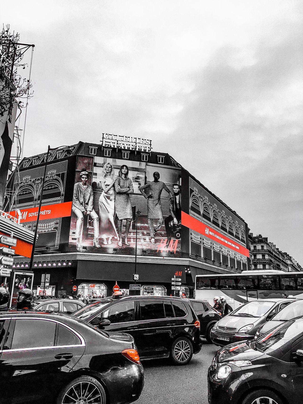 Boulevard Haussmann Paris Car Building Exterior City Iphonephotography