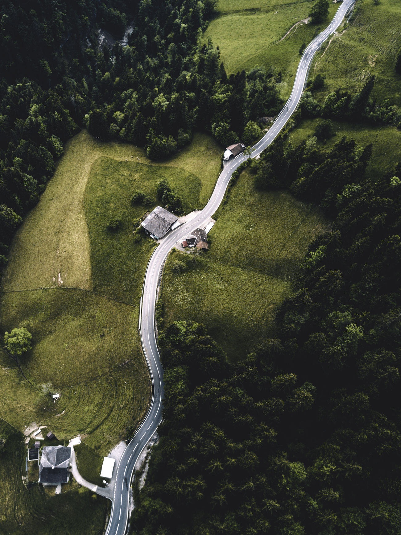 Aerial View Curve Dronephotography High Angle View Mountain Road Road Scenics Transportation Tree Winding Road