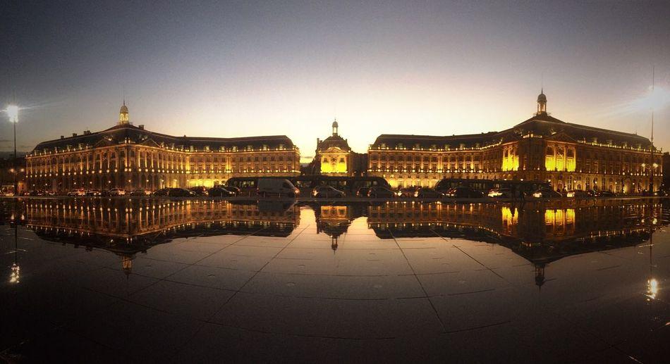 Overnight Success Architecture Built Structure Illuminated Famous Place Reflection UNESCO World Heritage Site Place De La Bourse Bordeaux