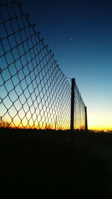 Sky Sunset Outdoors No People Nature Scenics Fence Streetphotography Urban Creativity The City Light Madrid Lasuma Tranquility City Silhouette Blue Tranquil Scene