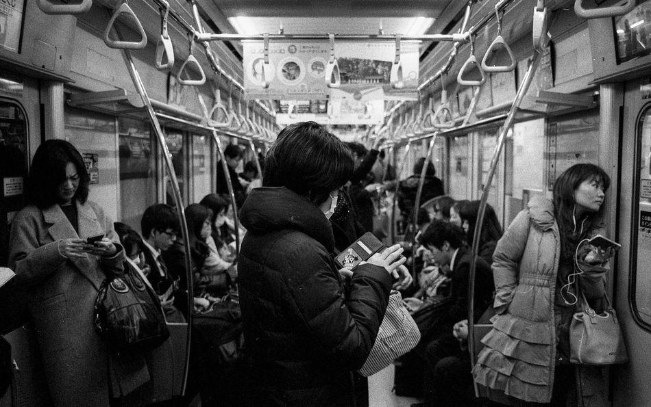 Japan 005 People Crowd Streetphotography EyeEmMalaysia Believeinfilm People Of EyeEm Filmisnotdead Black And White Street Photography Filmphotography Black And White Photography Streetphoto_bw Leica Ishootfilm Leicam Leicacraft Leicam6 EyeEm Tokyo,Japan Tokyo Japan Photography Blackandwhite Japan Train Trains