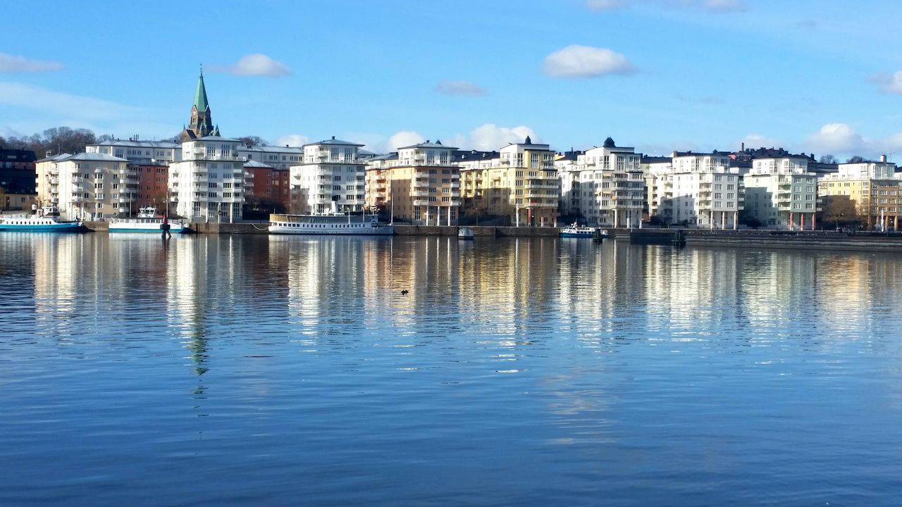 Water Sky Architecture Harbor Harbour View Harbor City Harbourlife Stockholm, Sweden Stockholm Waterreflections  Day No People Travel Destinations Cloud - Sky Reflections Harbour & Ships Harbour Life Boats And Water Sweden Zen Arcitecture EyeEmNewHere EyeEmNewHere EyeEmNewHere