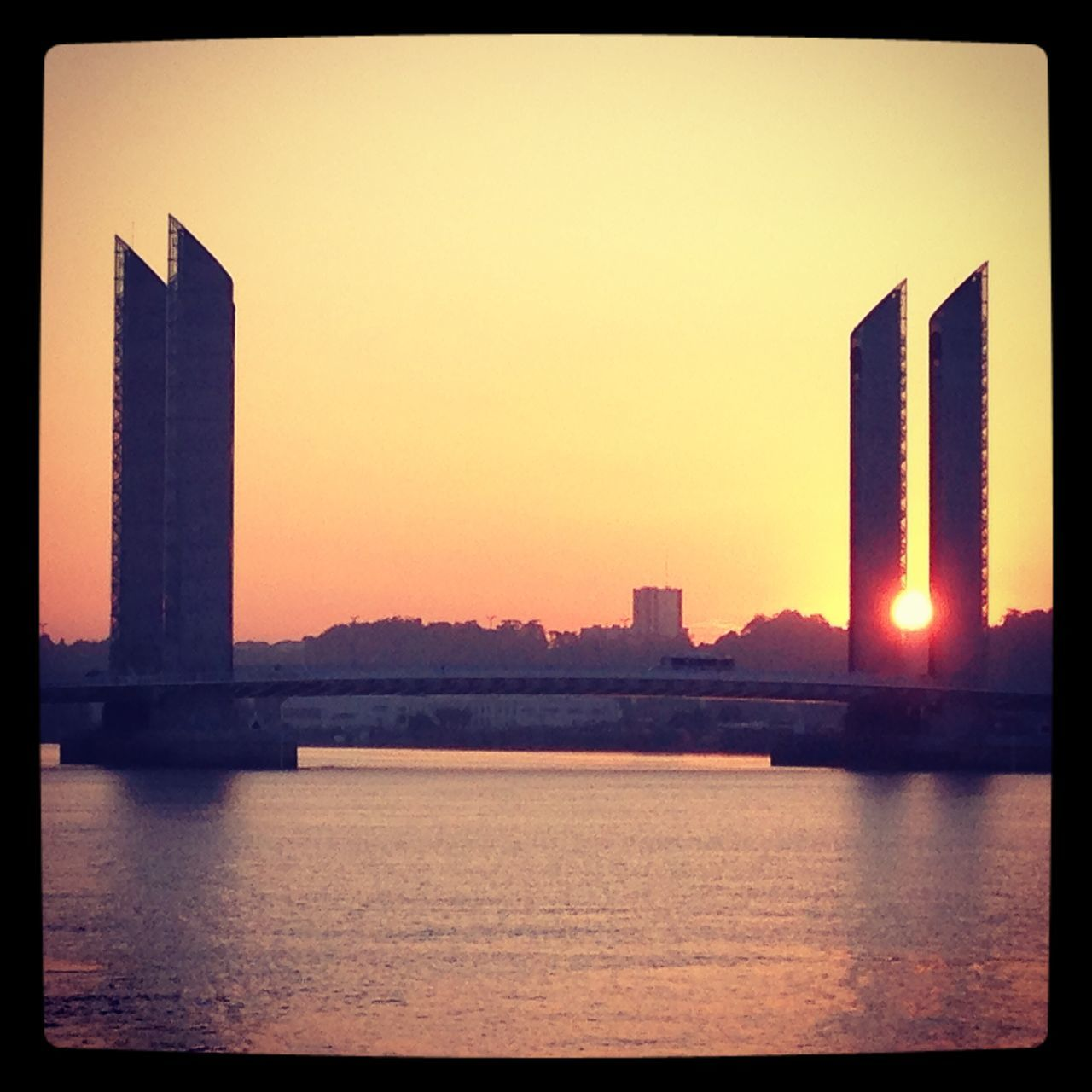 Good morning sunshine Capture The Moment Sunrise Bordeaux Pont Chaban-Delmas Hello World