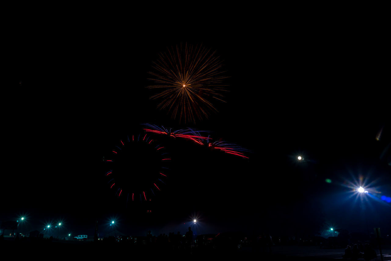 night, event, celebration, firework display, arts culture and entertainment, firework - man made object, illuminated, sky, outdoors, city, no people