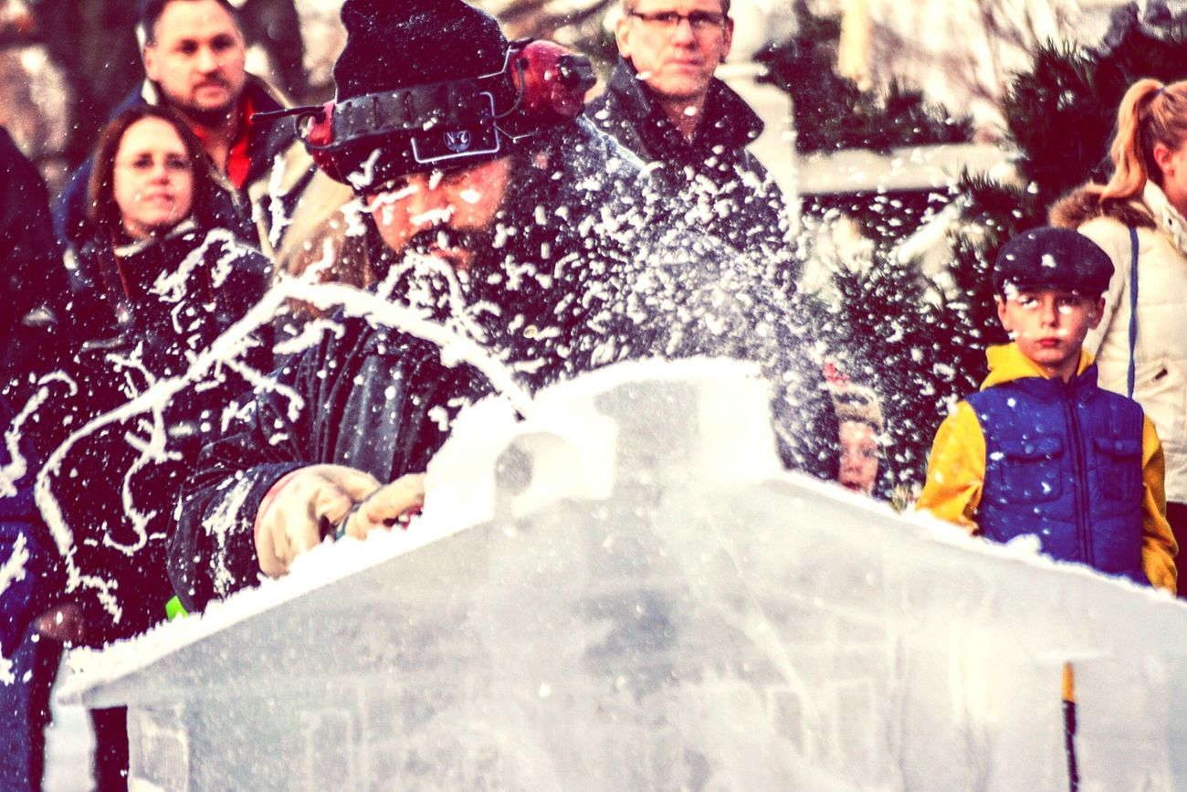 Actionshot Liveicesculpting Iceicebaby Art Photographybyadelle Nikon DSLR Photography NikonD5200 Chardonsquare Life