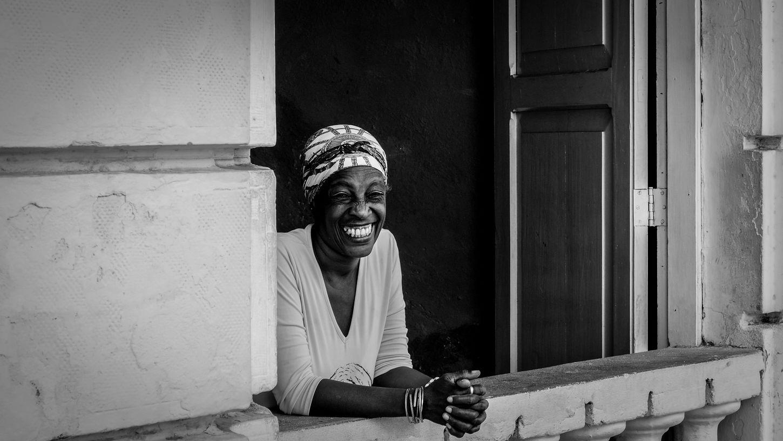 god put a smile upon your face Blackandwhite Cienfuegos, Cuba Cuba Leisure Activity Outdoors Relaxing Smiling Teeth The Portraitist - 2016 EyeEm Awards Women