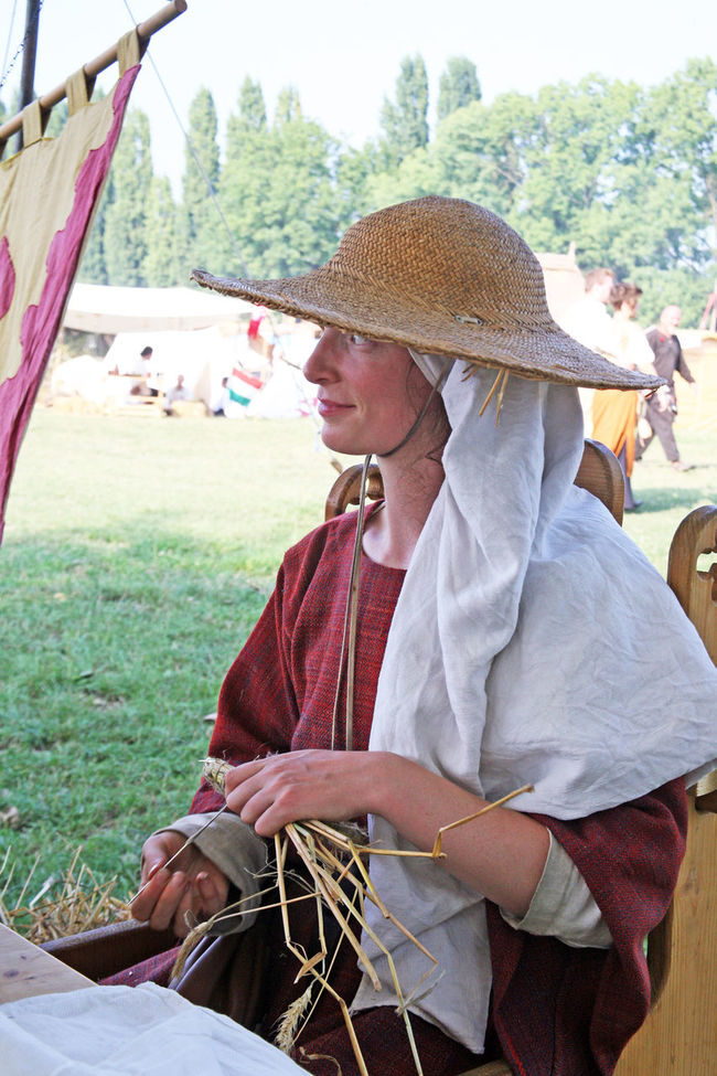 Renaissance Festival,Koprivnica,Croatia,Europe, 2016.,daydreaming lady Croatia Day Daydreaming Entertainment Eu Europe Fair Knit Hat Koprivnica Lady Medieval Person Portrait Pretty Renaissance Festival Shadow Show Sitting Summer Tranquility Young Adult