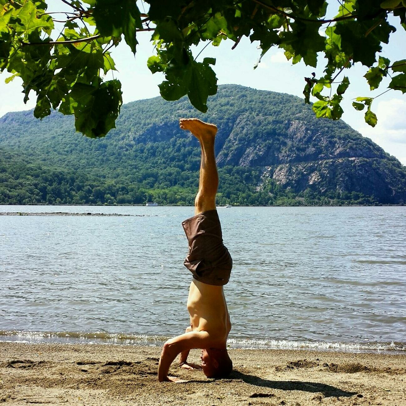 Yoga Headstand Cold Spring Hudson River #ny