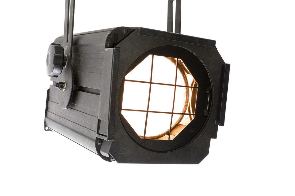 Lightspot for stage on white background Entertainment Equipment Floodlight Fresnel Lamp Light Projector Spot Spotlight Stage Staging Studio