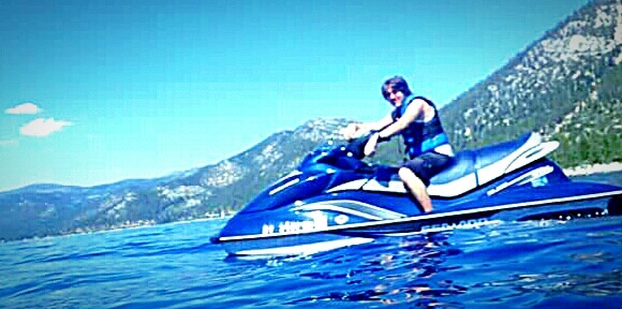 The Essence Of Summer The Following Enjoying Life Swimming :) Relaxing Moments Mountains And Sky Sierra Nevada Mountains Jet Skiing My Happy Place  Water Sports Waterproof Camera My Son ❤ Lake Tahoe Water Photography Taking Photos ❤ Clear Blue Water Outdoor Photography Vacation Time ♡ Having Fun With Kids Swimming In The Lake Mother And Son Lake Tahoe Water Sports Reflections On The Water Reflections In The Water