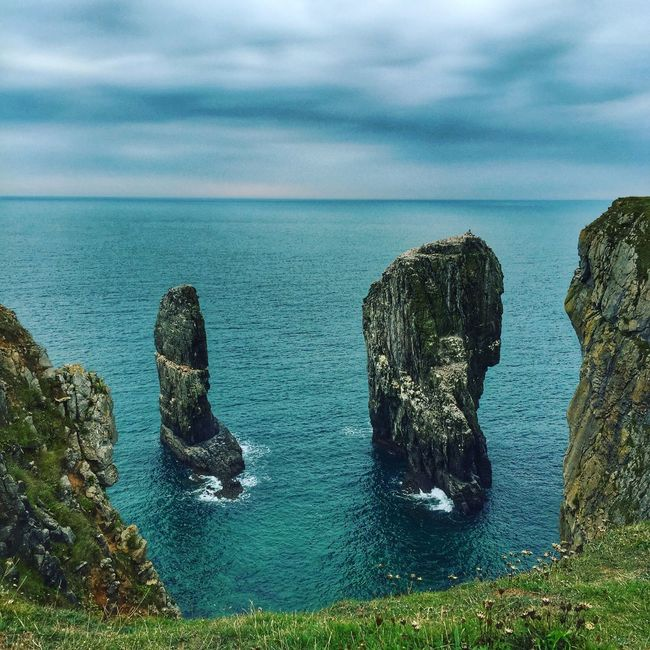 Stack Rocks, Pembrokeshire Sea Tranquil Scene Beauty In Nature Cliff Majestic Outdoors Stack Rocks Coast Pembrokeshire Coast National Park