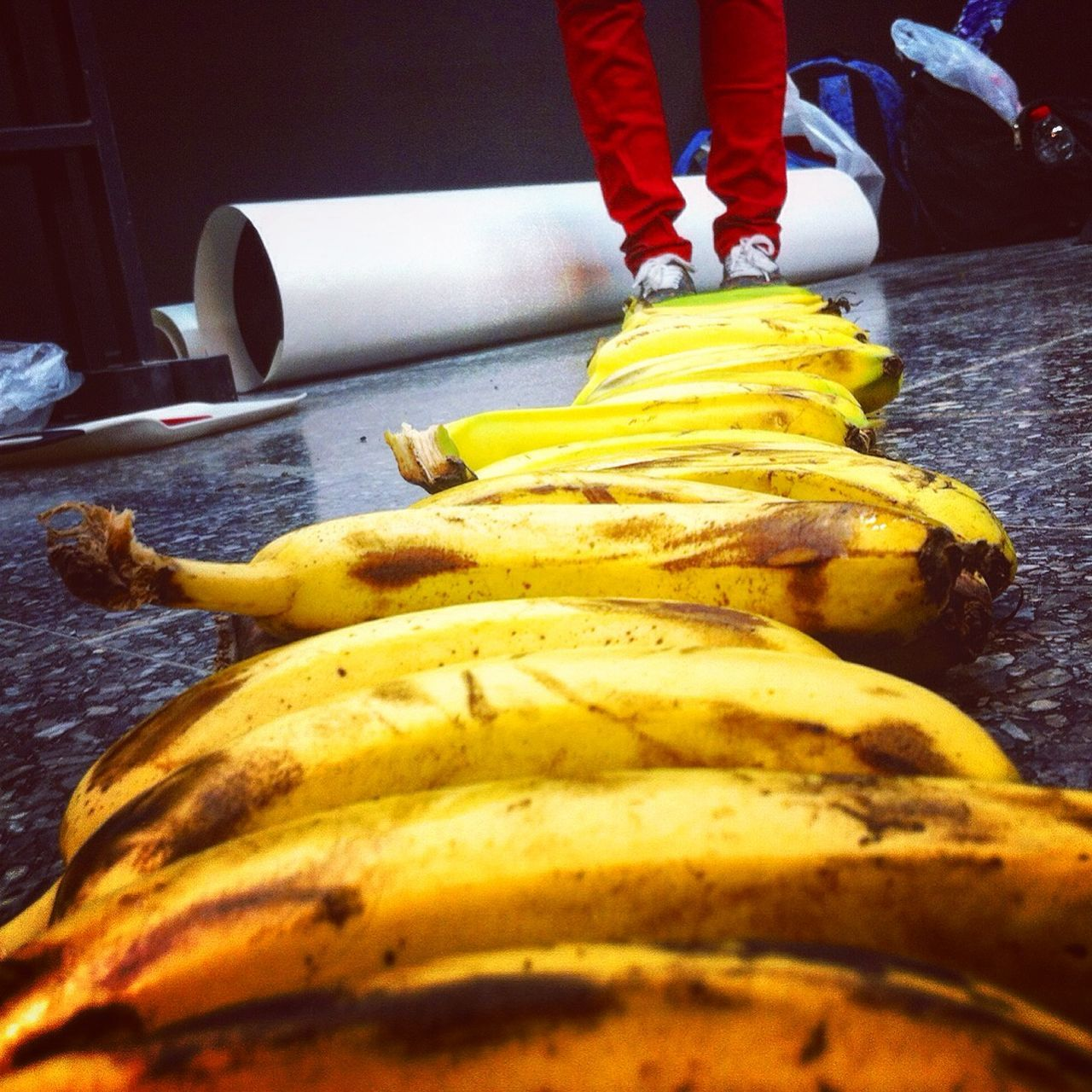 Making some Creative Stopmotion Animation with Banana for School Project .