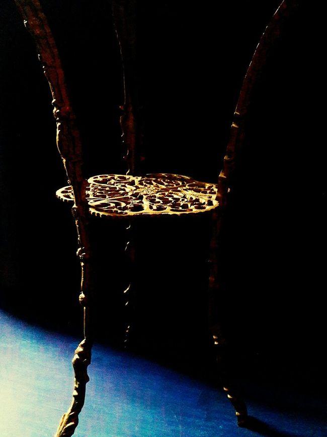 Luxury No People Black Background Indoors  Day Metalware Illuminated Design Object Interior Decorating Brass Furniture Blue Antique Furniture