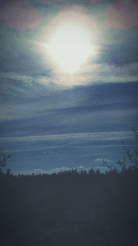 Hi Friends Sunlight ☀ Sunshine The 00 Mission Oregon Sky