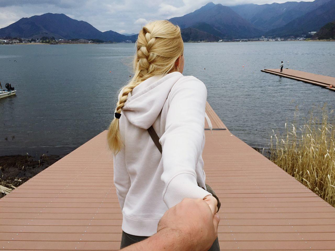 Beautiful stock photos of lake, Beauty In Nature, Blond Hair, Bonding, Braids