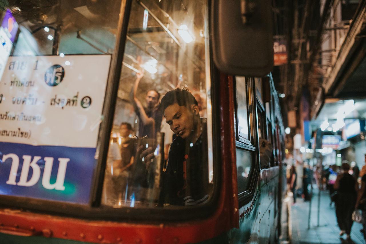 By Bangkok Bus Bangkok Bus By Bangkok Bus Commute Editorial  Mode Of Transport Series Social Thailand The Street Photographer - 2017 EyeEm Awards Tranportation
