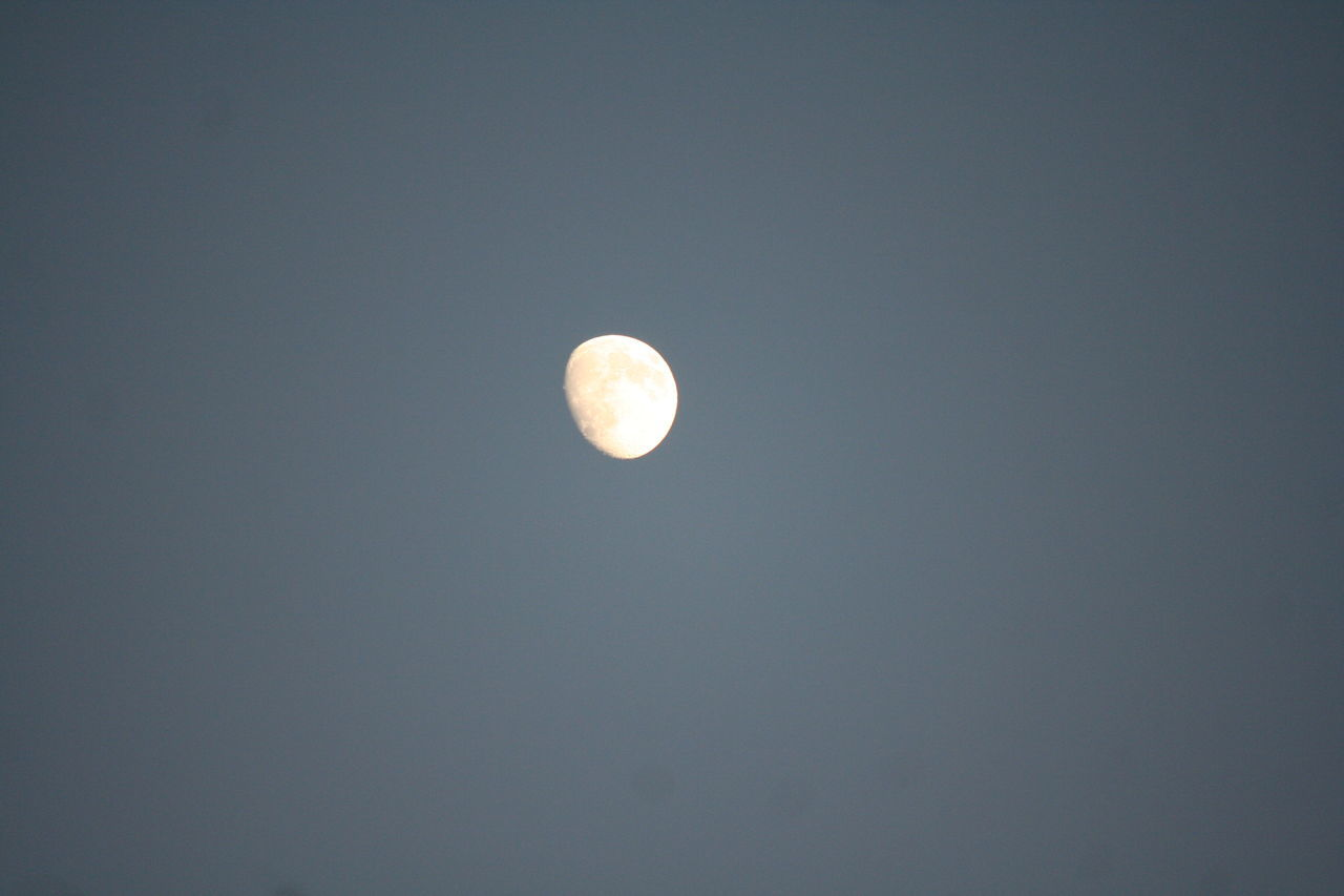 moon, astronomy, nature, beauty in nature, planetary moon, scenics, night, tranquility, copy space, moon surface, low angle view, tranquil scene, no people, sky only, space, half moon, outdoors, clear sky, space exploration, crescent, sky