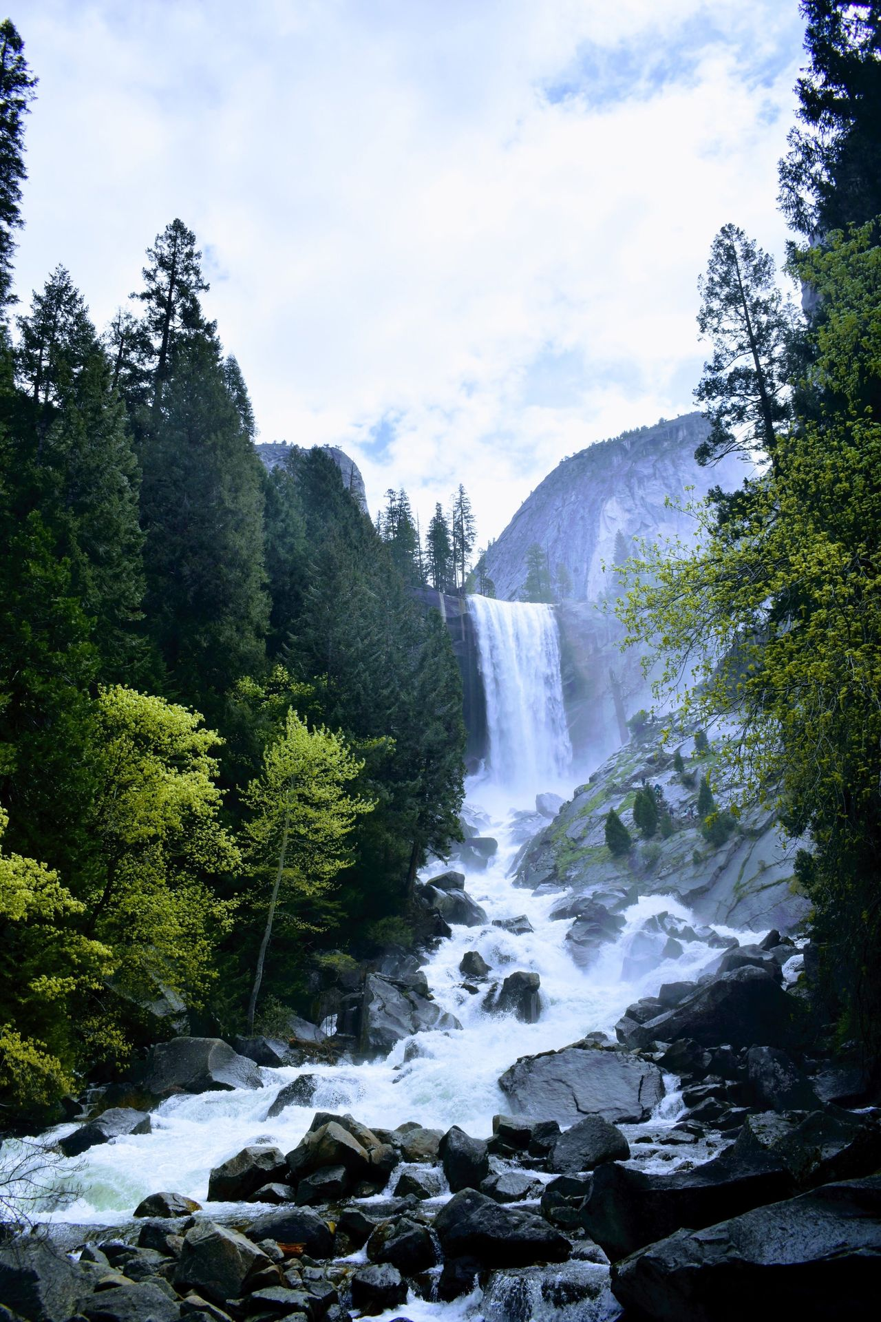 Vernal Falls Waterfall Yosemite National Park Water Nature Forest Tranquil Scene The Great Outdoors - 2017 EyeEm Awards Travel Destinations