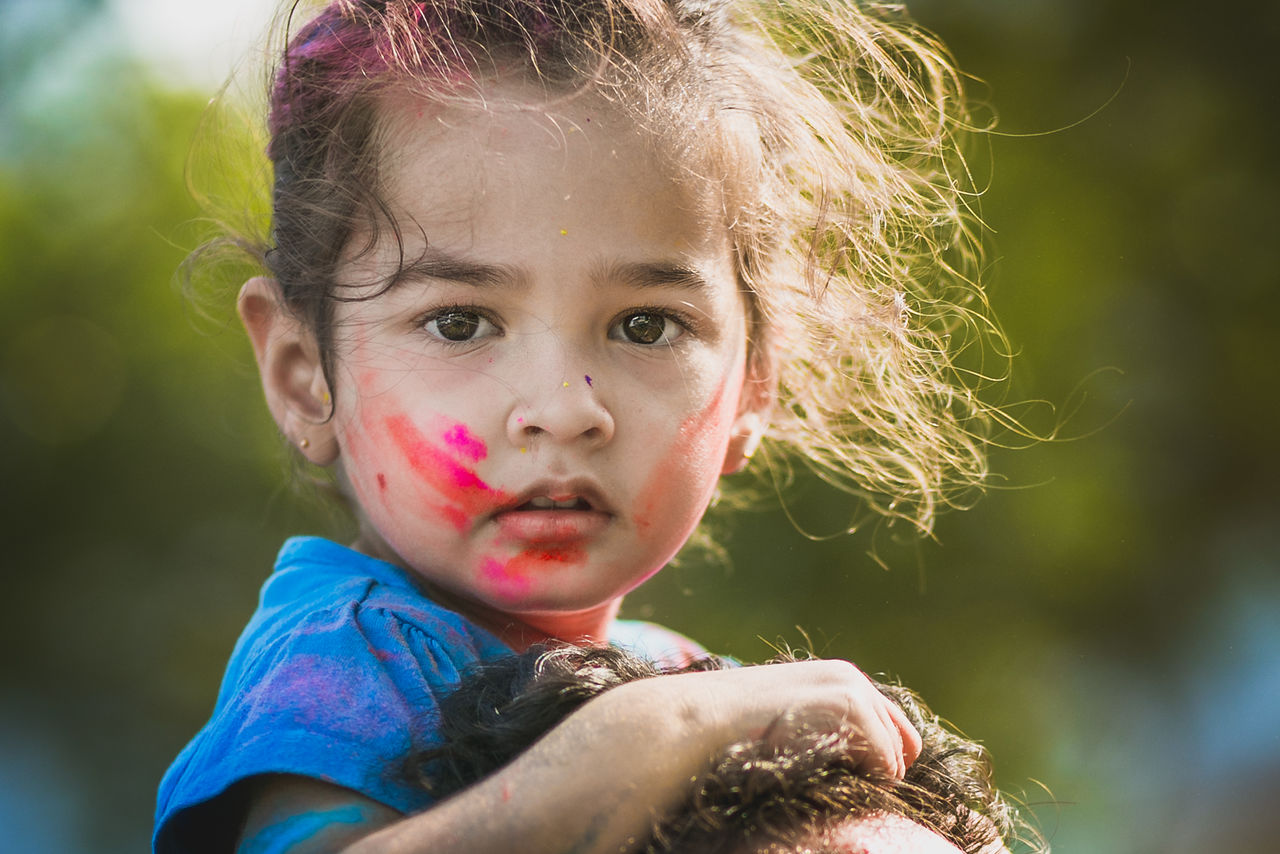 Holi Face Bubble Wand Child Childhood Children Only Close-up Day Elementary Age Eyeem Philippines Facepaint Focus On Foreground Girls Headshot Holi Innocence Leisure Activity Lifestyles Looking At Camera One Person Outdoors People Portrait Real People