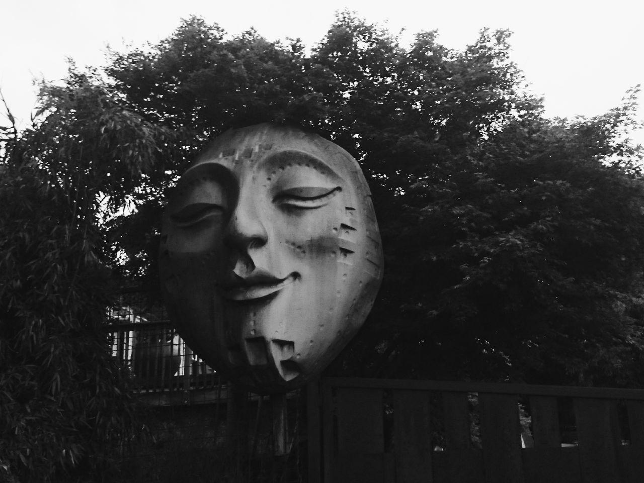 Surrealism Surreal Black And White Blackandwhite Monochrome Dream Face Human Representation Human Face Smile Calm Eyes Closed  Art Street Art