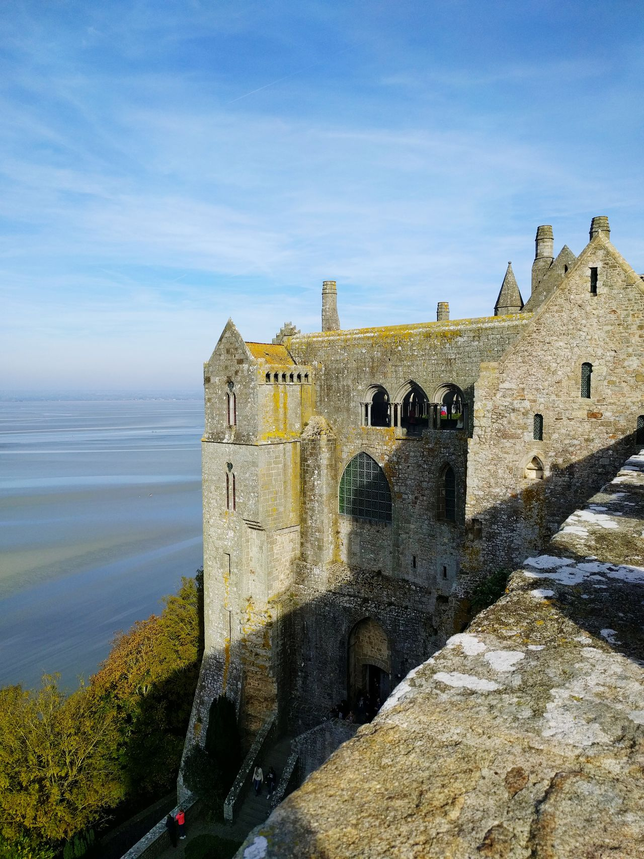 History Architecture Sea Water Abbey Stone Material Mont St Michel Built Structure Sacred Places Architecture Ancient