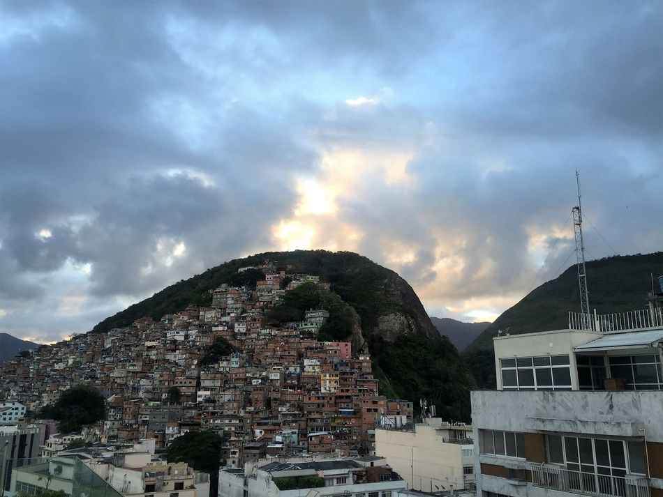 Favela do Rio City Cityscape Clouds Day Favela House Rio De Janeiro Sky Travel
