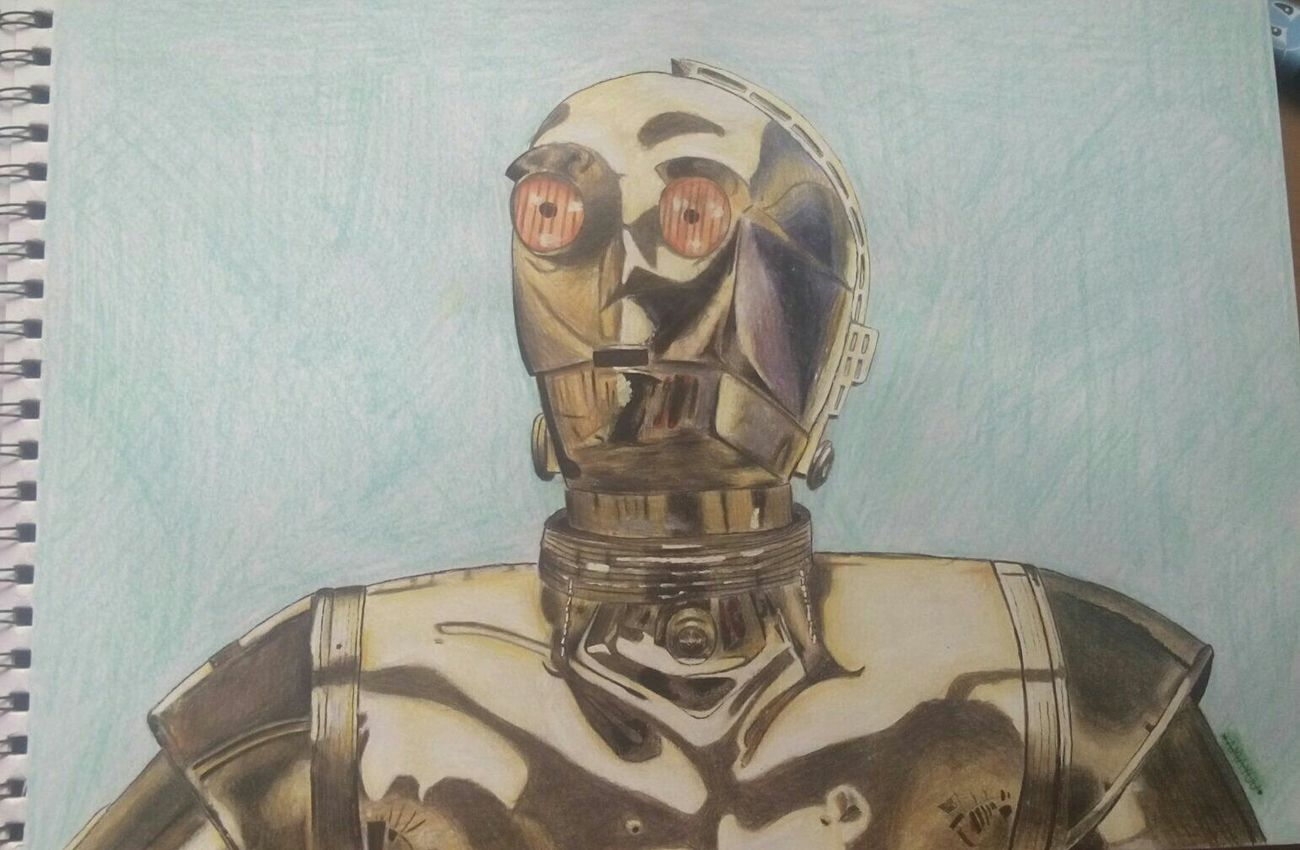 Art Hello World Drawing Hi! Colors Drawingtime C3po Starwars Artistic
