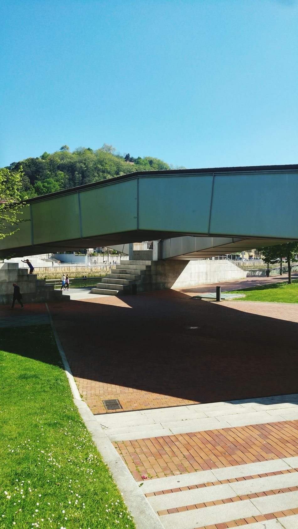 Outdoors Sunny Day Architecture Bilbao Nature Bridge View Bridges Sunlight And Shadows Sunlight ☀ Sunlight, Shades And Shadows Contrast Of Shadows Shadow And Light Light And Shade
