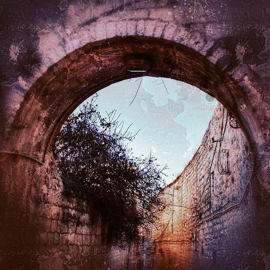 Arch in the Old City Jewishquarter Jerusalem