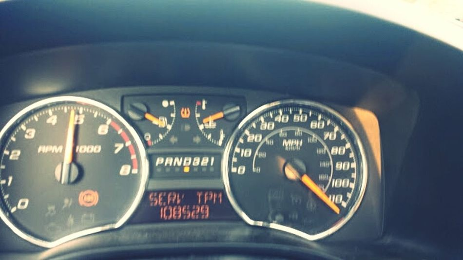 always pushing my baby to new limits! I love my chevy, she never lets me down. Speed Yolo 135mph Chevy