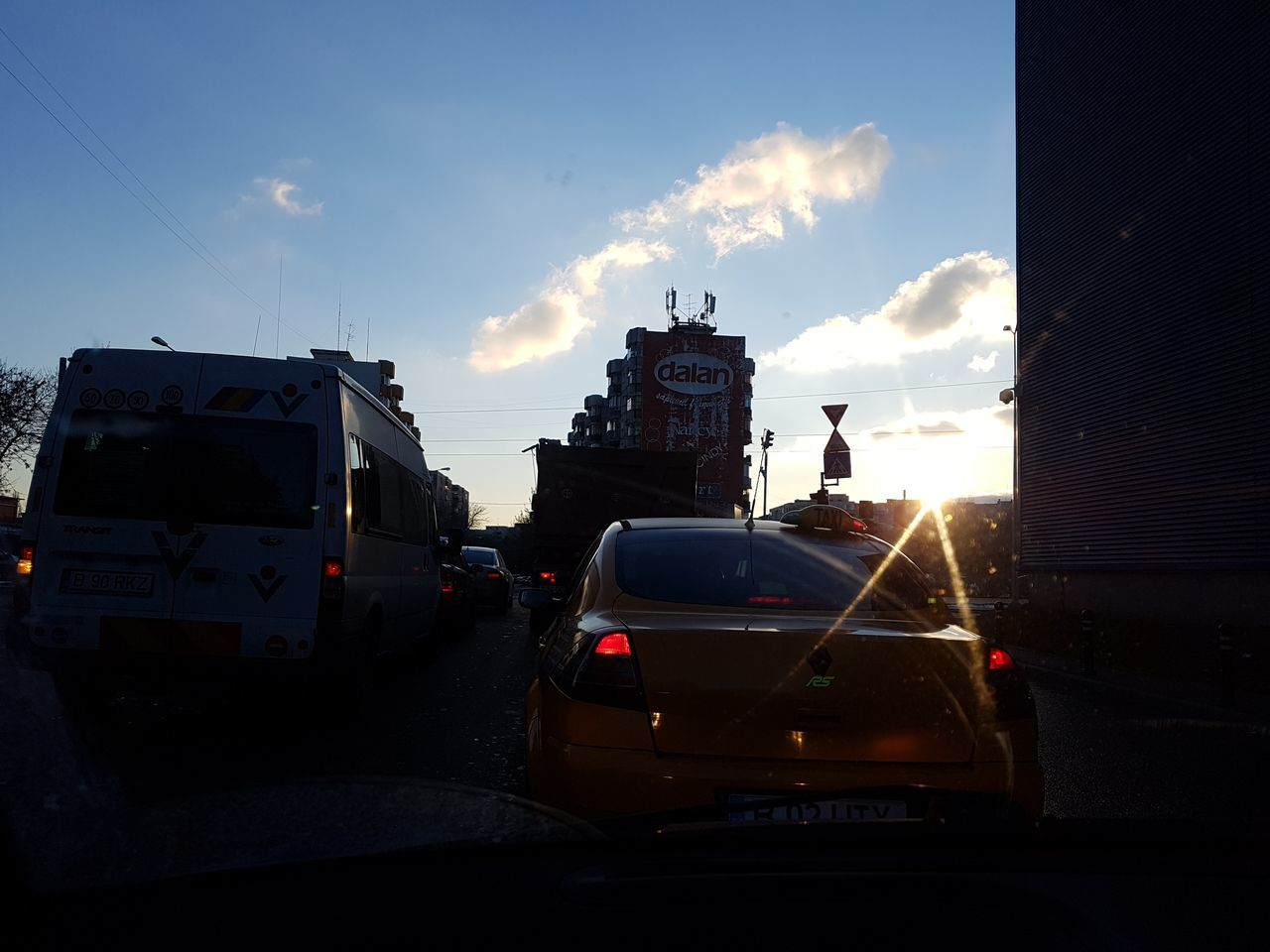 Sunset in Bucharest Adapted To The City Bucharest, Romania Car Close-up Day Driving One Person Outdoors People Road Sky Sunset Traffic Transportation