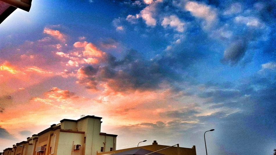 Sky Sunset Building Exterior Architecture Built Structure No People Beauty In Nature Dramatic Sky Silhouette Cloud - Sky Outdoors Scenics Nature Tree Astronomy Star - Space Ezdan Water Qatarphoto1 Galaxy Qatar National Day مطر💧☁ Qatarlife Qatar Days Qatar Airways