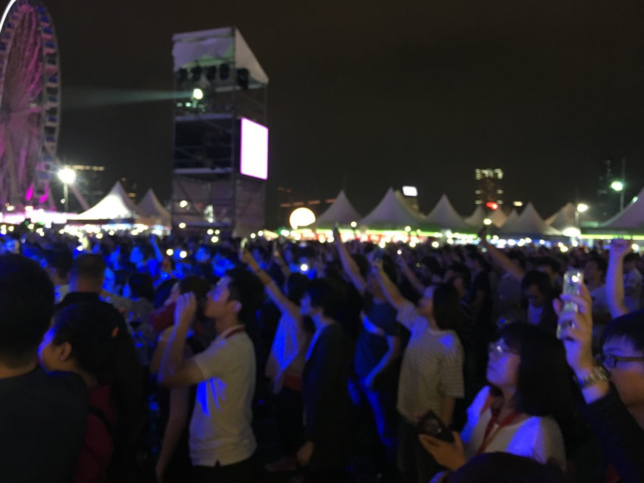 large group of people, night, real people, men, illuminated, women, togetherness, crowd, outdoors, people