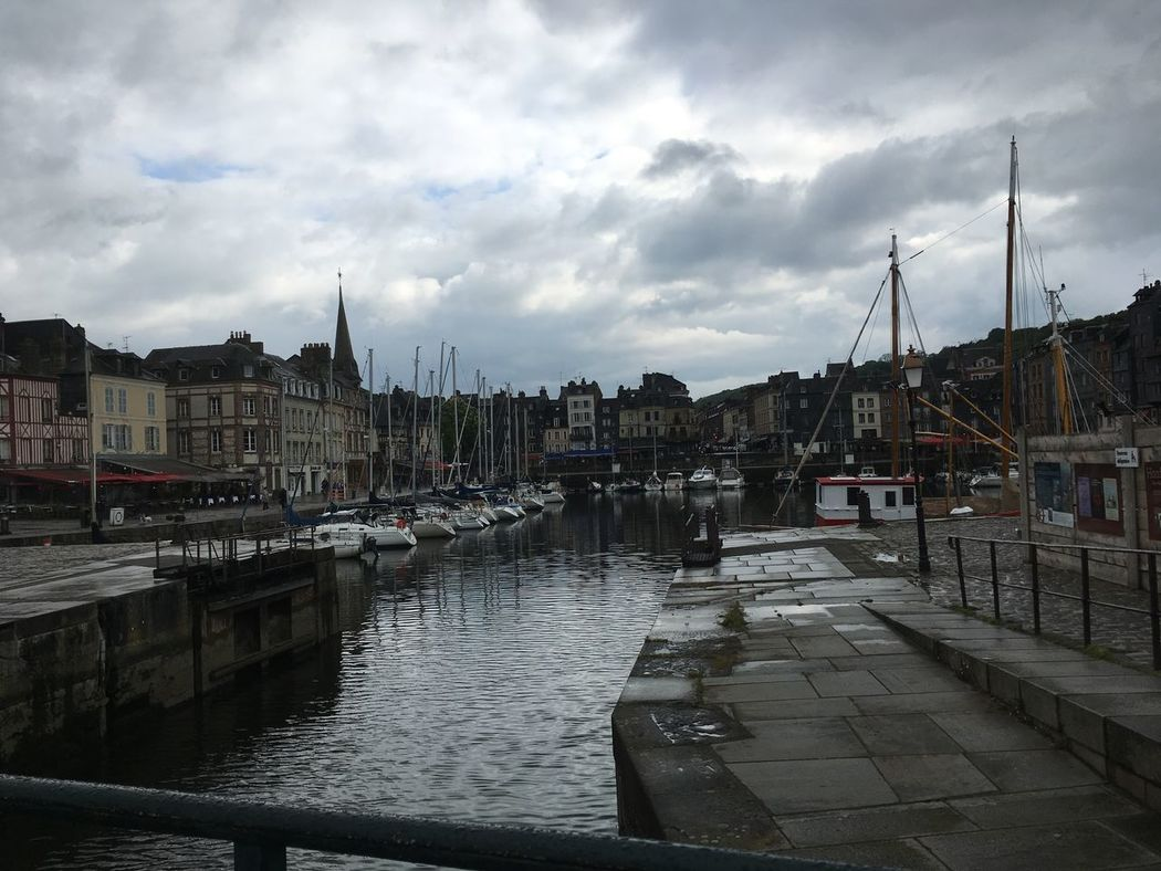 A Day in Honfleur France Honfleur Architecture Building Exterior Built Structure City City Location Cityscape Cloud - Sky Day Harbor Moored Nautical Vessel No People Outdoors Residential Building Sky Storm Cloud Town Transportation Travel Destinations Water Impressionism Monet