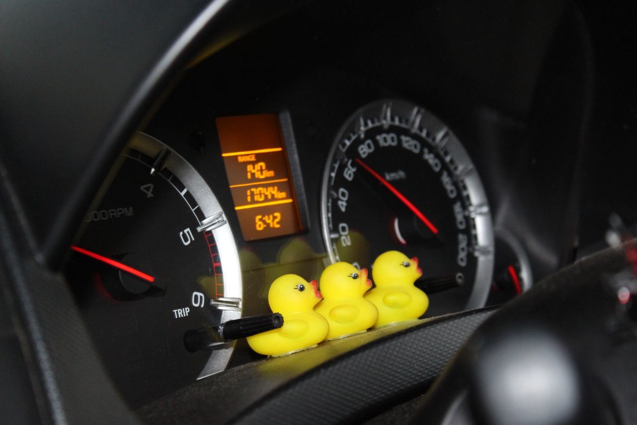 Number Close-up Dashboard Land Vehicle Yellow Gauge Meter - Instrument Of Measurement Speedometer No People Indoors  Day