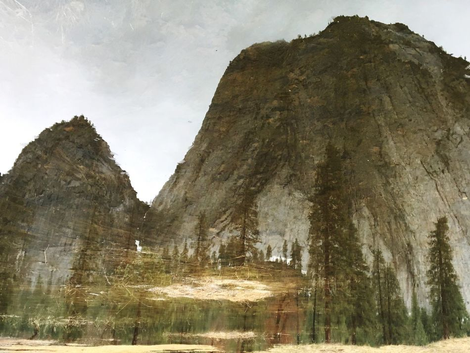 IPhoneography Iphonephotography IPhone Photography Mirror Lake Mirror Reflection Reflection Rock Formation Rock - Object Nature Tranquility Physical Geography Beauty In Nature Day Mountain No People Tranquil Scene Scenics Low Angle View Outdoors Sky Tree Yosemite National Park Yosemite Valley The Secret Spaces