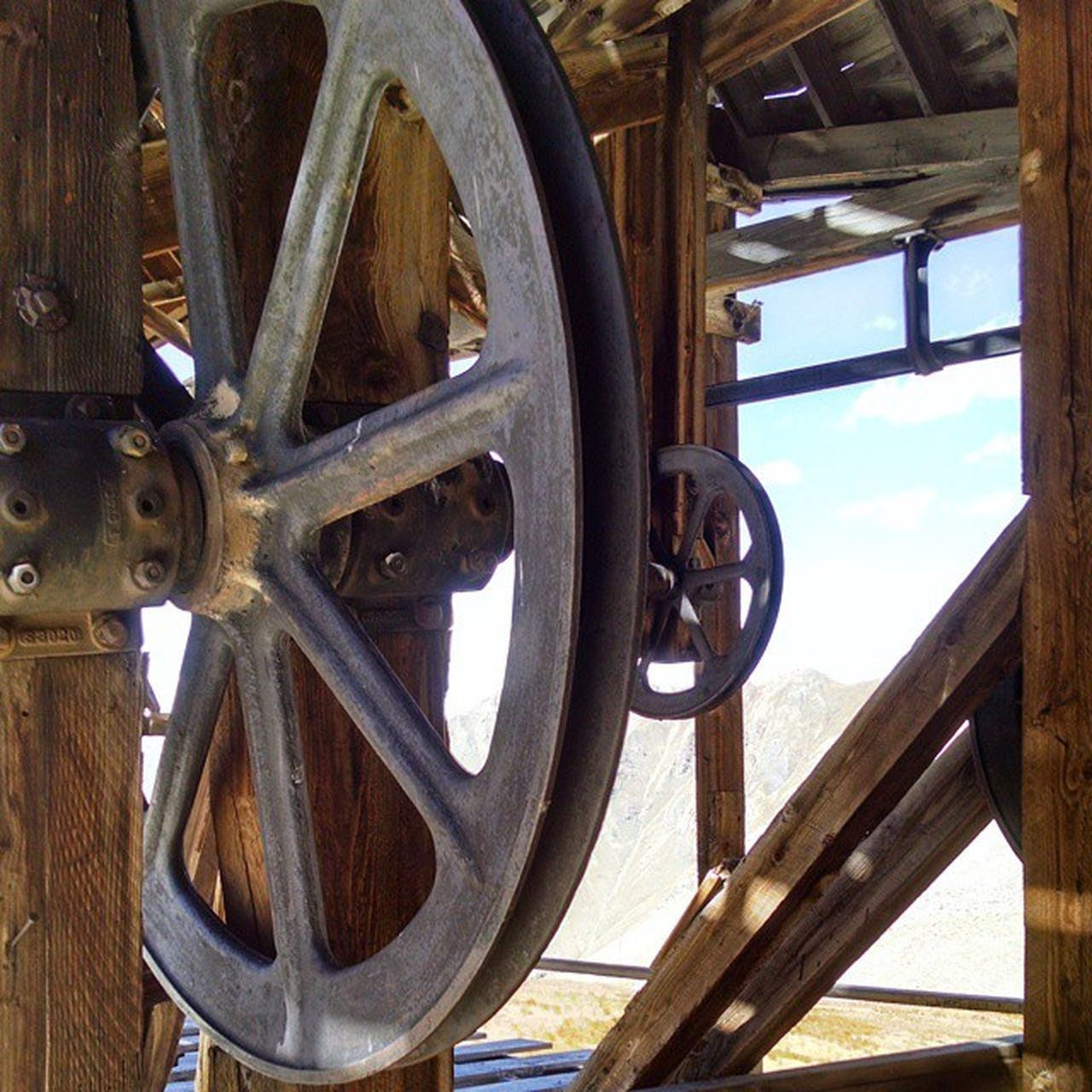 The wheels of Buffalo Boy mine tram. Buffaloboy Jeeping Jeepjamboree