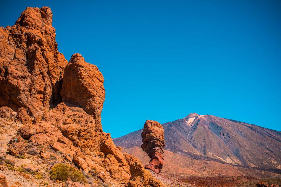 Arid Climate Desert Landscape Mountain Orange Red Rock Rocky Senic Teide Tenerife Vulcano Warm