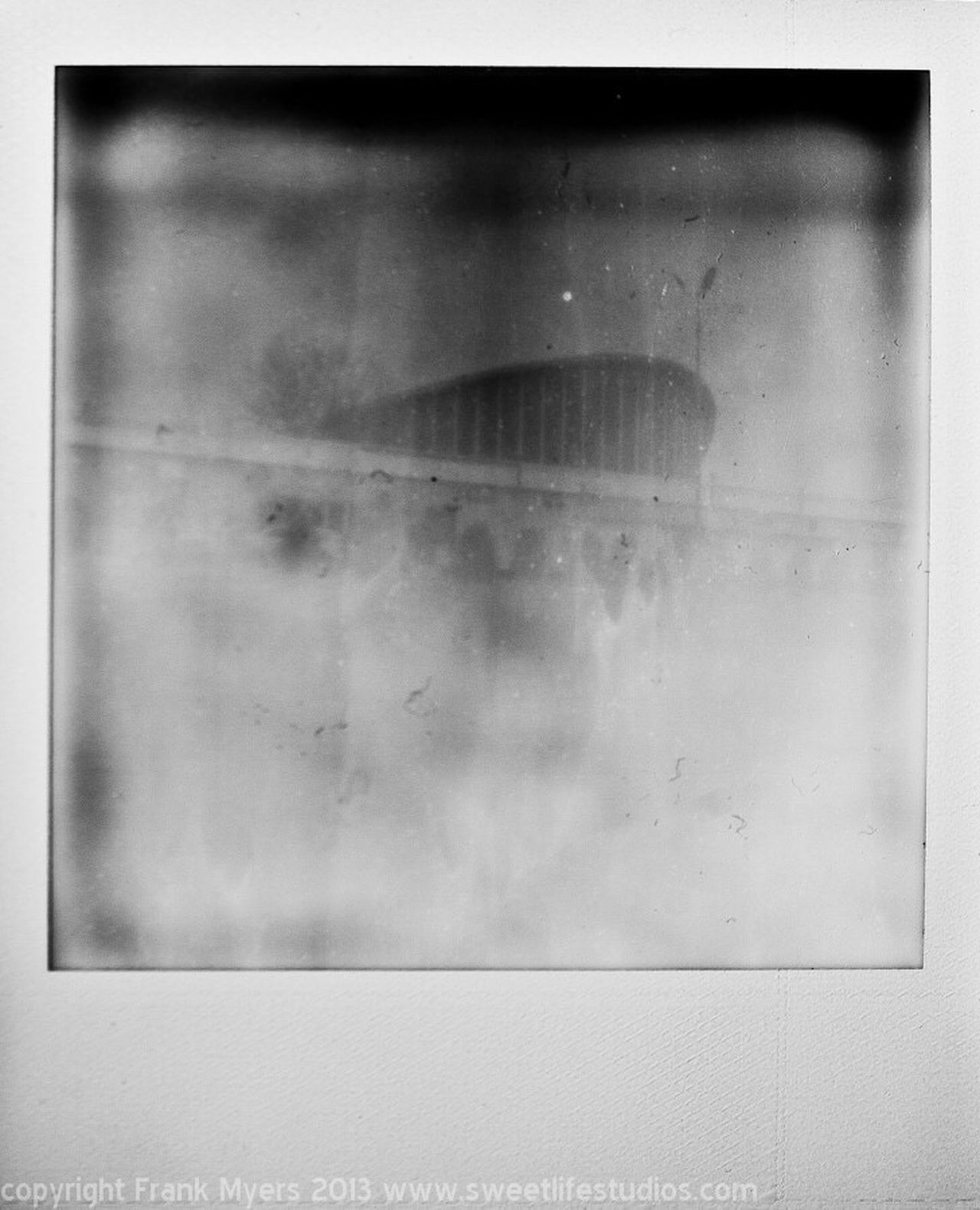 Dorton Arena abstract Blackandwhite Polaroid Impossible Project Abstract