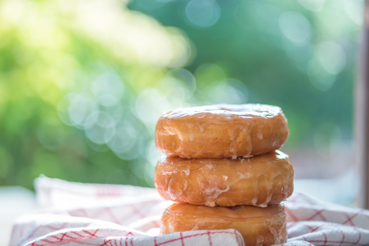 Close-up Day Doughnuts Focus On Foreground Food Food And Drink Freshness Indoors  Indulgence No People Ready-to-eat Soft Doughnut Stack Stack Sweet Food Table Temptation Unhealthy Eating
