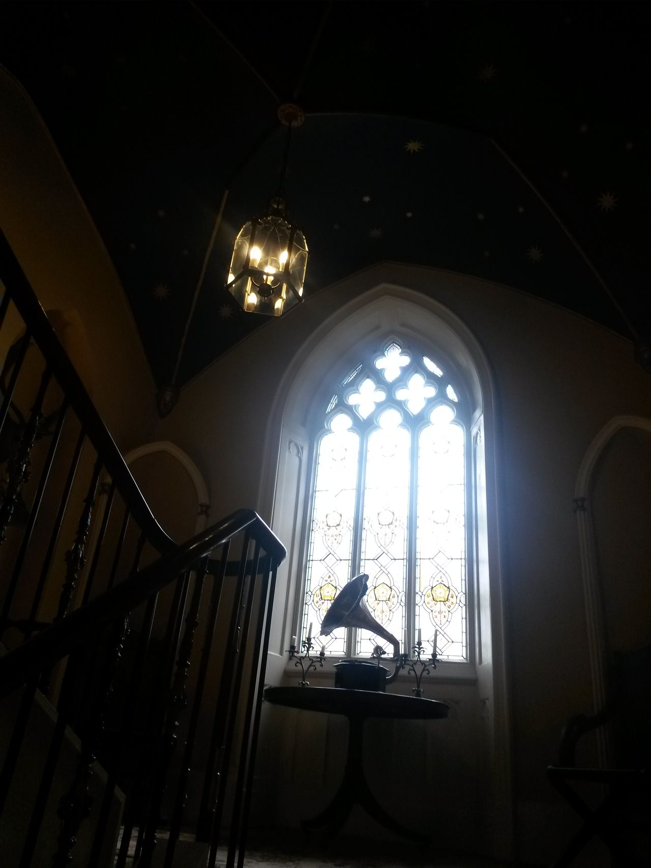 Indoors  Window Low Angle View Old-fashioned No People Vintage Light Light And Darkness  Beautiful Places Wedding Venue Stained Glass Stained Glass Window Beautiful England Pretty Places