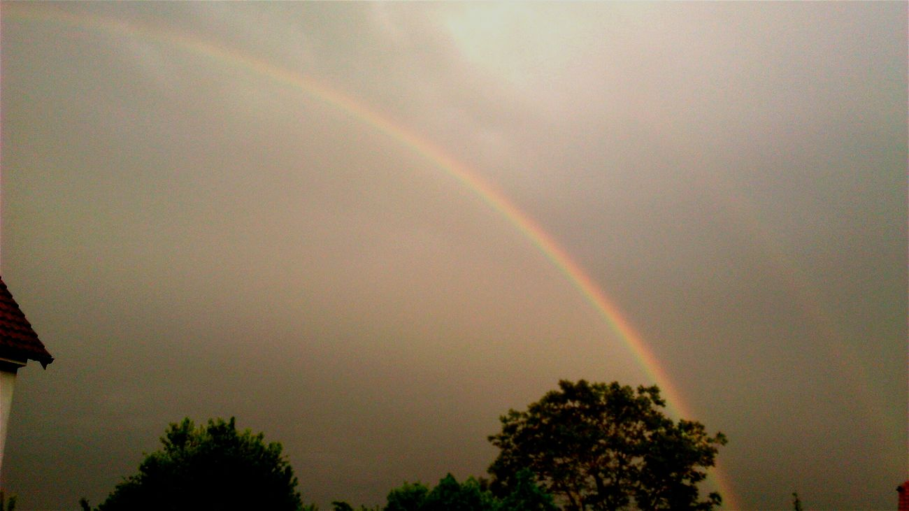 Magdeburg Barleben Germany Sky Rainbow Double Rainbow