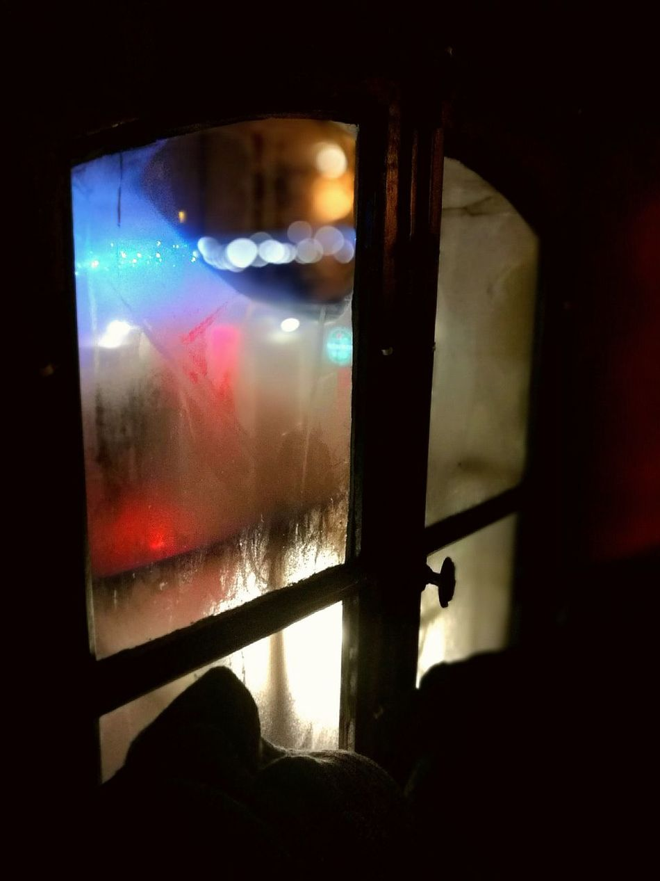 Looking through the cold glass Red Light Close-up Indoors  Illuminated Window Soothing To The Soul Calm Quiet Still Life Photography Still Life Halo Effect Lines And Patterns Bokeh Lights Bokeh Photography Bokeh Love Mist On Glass In A Bar
