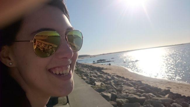 Perfectsmile Perfectperson Perfectspot Sea Beach Sunlight Water Sunglasses Tilt Horizon Over Water Sunny Sunbeam Lens Flare Clear Sky Scenics Headshot Leisure Activity Bright Sun Vacations Lifestyles Reflection Tranquil Scene