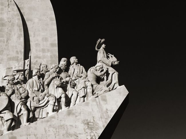 Monument To The Discoveries (Padrão Dos Descobrimentos) Sculpture Statue NEW WORLD  Conquistador Age Of Discovery Vasco Da Gama Columbus Lisbon Lisboa Belén Tagus River Portugal Ship Boat Henry The Navigator