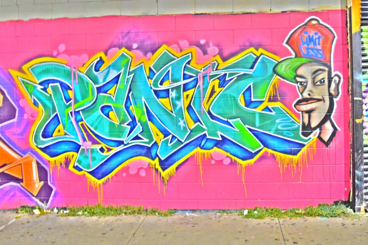 Graffiti Multi Colored Wall - Building Feature Street Art Building Exterior Creativity City Spray Paint City Life ArtWork Outdoors Panic NYC