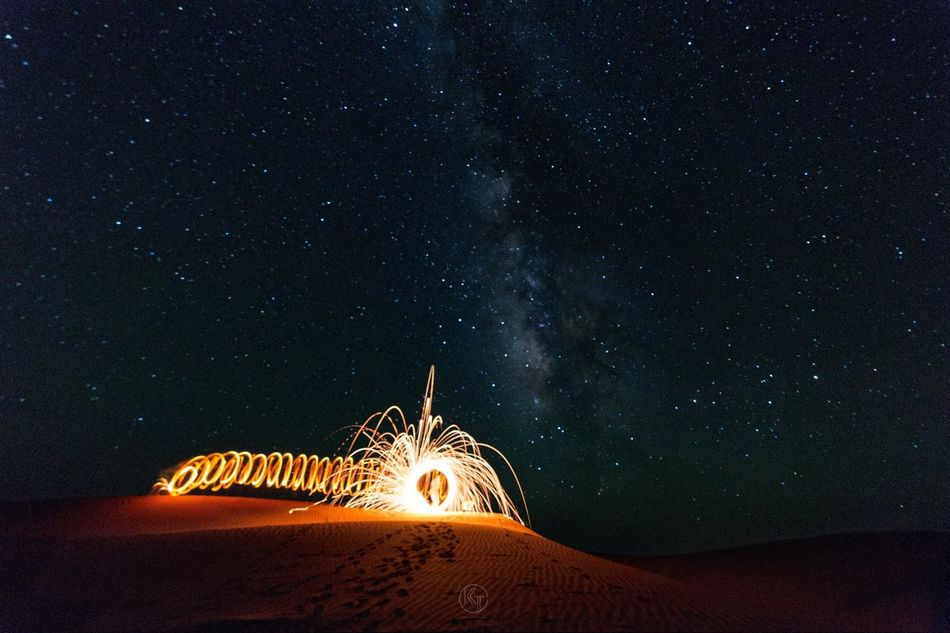 Night Star - Space Constellation Star Field Long Exposure Sky Astronomy Beauty In Nature Space And Astronomy Motion Galaxy No People Space Nature Outdoors Astrology Sign Wire Wool Lifestyles Landscape Beauty In Nature Nature Photography EyeEm Best Shots Sahara Desert