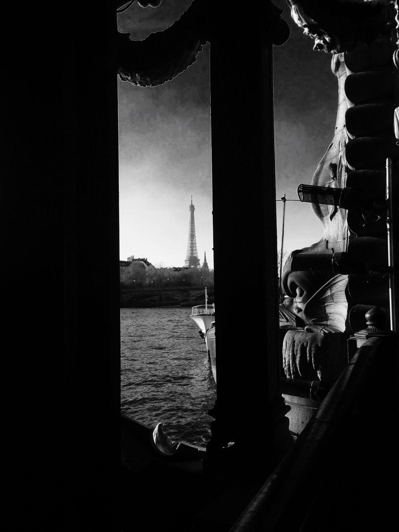 Window Day Indoors  No People Water City Sky Architecture Paris, France  Tour Eiffel, Paris.